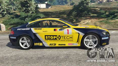 GTA 5 BMW M6 (E63) WideBody v0.1 [StopTech] left side view
