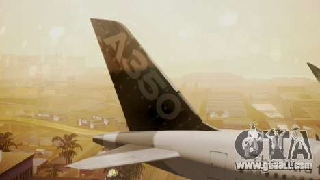Airbus 350-900XWB Around The World for GTA San Andreas back left view