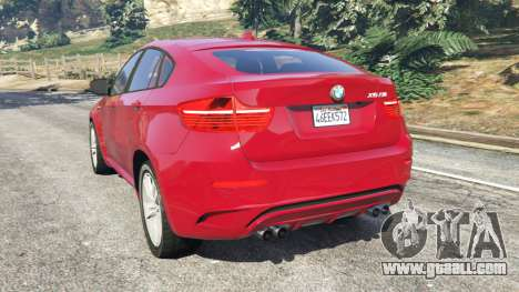 GTA 5 BMW X6 M (E71) rear left side view