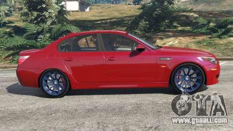 GTA 5 BMW M5 (E60) 2006 left side view