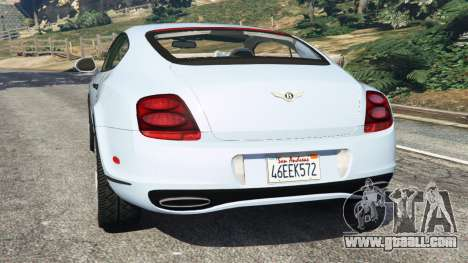 GTA 5 Bentley Continental Supersports [Beta] rear left side view