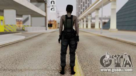 Resident Evil Remake HD - Jill Valentine (Army) for GTA San Andreas third screenshot