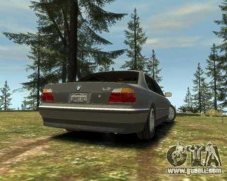 BMW L7 (750IL E38) 2001 for GTA 4 left view