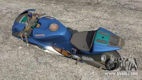 GTA 5 Ducati Desmosedici RR 2012 back view