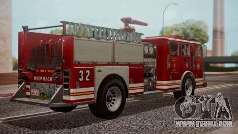 GTA 5 MTL Firetruck IVF for GTA San Andreas left view