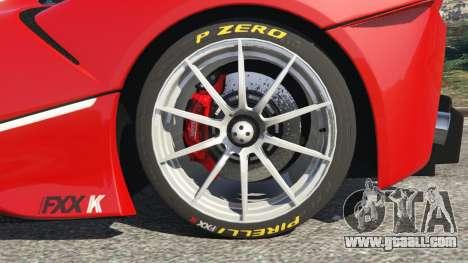 GTA 5 Ferrari FXX-K 2015 rear right side view