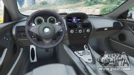 GTA 5 BMW M6 (E63) WideBody v0.1 [StopTech] back view