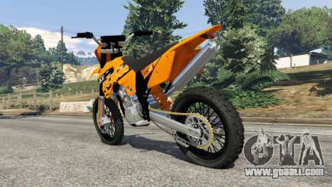 GTA 5 KTM 450SX Racing 2007 rear left side view
