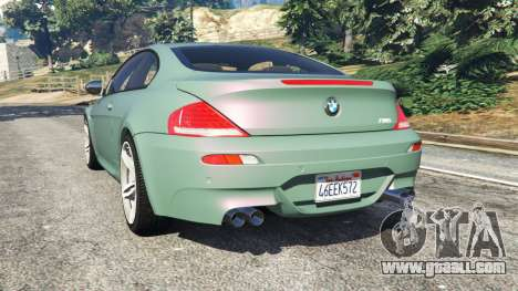 GTA 5 BMW M6 (E63) Tunable rear left side view