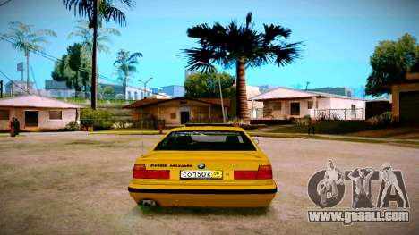 BMW 525tds E34 Russian Taxi for GTA San Andreas back left view