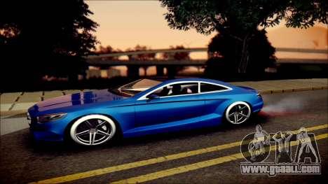 Mercedes-Benz S Coupe Vossen cv5 2014 for GTA San Andreas left view