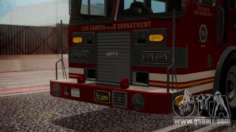 GTA 5 MTL Firetruck IVF for GTA San Andreas side view