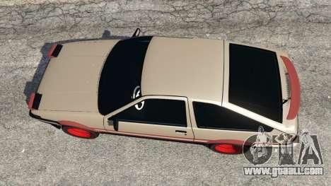 GTA 5 Toyota AE86 Sprinter [Beta] back view