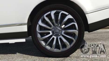 GTA 5 Range Rover Vogue 2013 v1.2 back view