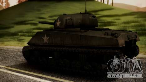 M4A3 Sherman for GTA San Andreas left view