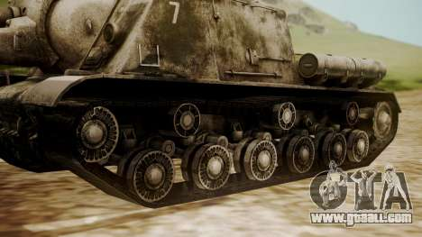 ISU-152 Snow from World of Tanks for GTA San Andreas back left view