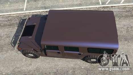 GTA 5 Hummer H1 v2.0 back view