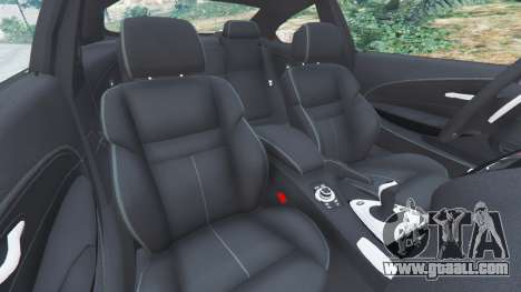 GTA 5 BMW M6 (E63) Tunable front right side view