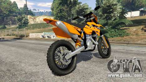 GTA 5 KTM 450SX Racing 2007 right side view