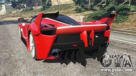 GTA 5 Ferrari FXX-K 2015 rear left side view