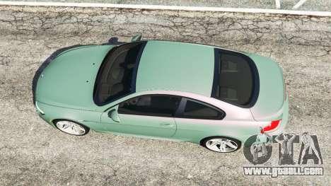 GTA 5 BMW M6 (E63) Tunable back view