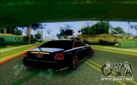 Rolls-Royce Ghost Mansory for GTA San Andreas back left view