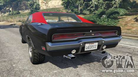 GTA 5 Dodge Charger RT 1970 v3.1 rear left side view