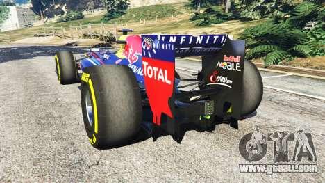 GTA 5 Red Bull RB8 [Sebastian Vettel] rear left side view