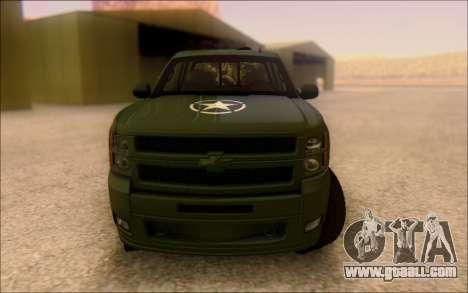 Chevrolet Silverado 2500 Best Edition for GTA San Andreas back view