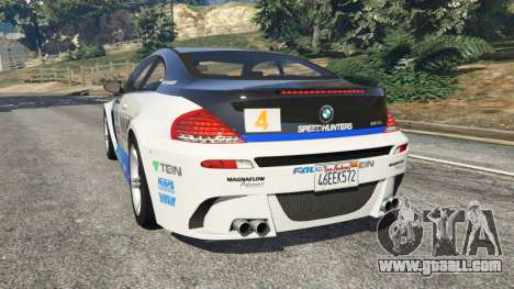 GTA 5 BMW M6 (E63) WideBody v0.1 [Volk Racing Wheel] rear left side view
