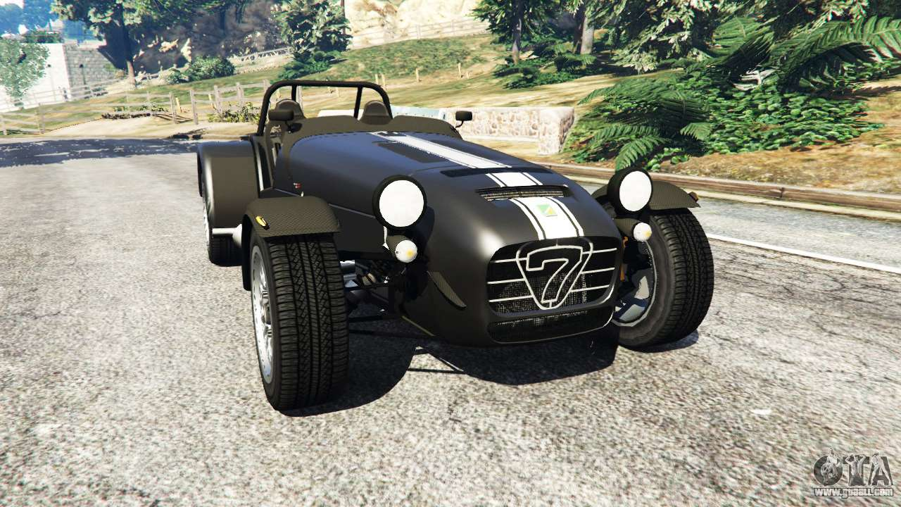 caterham super seven 620r v1 5 black for gta 5. Black Bedroom Furniture Sets. Home Design Ideas