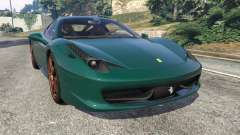 Ferrari 458 Italia 2009 v1.5 for GTA 5