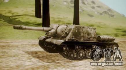 ISU-152 Snow from World of Tanks for GTA San Andreas