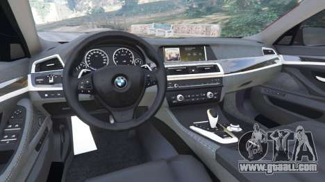 GTA 5 BMW 535i 2012 rear right side view