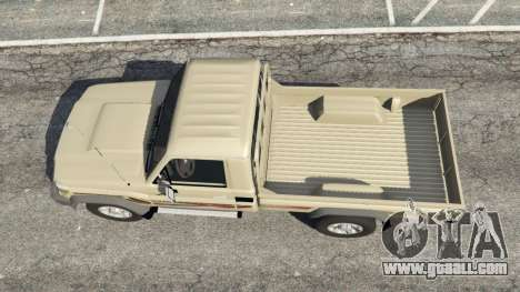 GTA 5 Toyota Land Cruiser LX Pickup 2016 back view