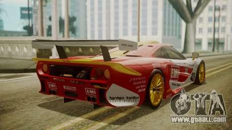McLaren F1 GTR 1998 Lemans McLaren for GTA San Andreas left view