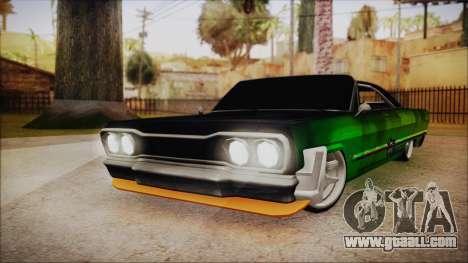 Savanna Ganstar Lowrider for GTA San Andreas