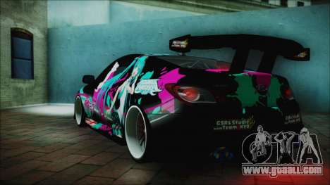 Hyundai Genesis Coupe Hatsune Miku Itasha PJ for GTA San Andreas left view