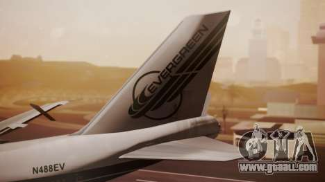 Boeing 747-200 Evergreen International Airlines for GTA San Andreas back left view