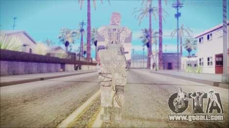 MGSV Phantom Pain Snake Normal Woodland for GTA San Andreas third screenshot