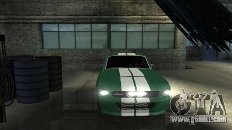 Ford Mustang Shelby GT500 1967 for GTA San Andreas upper view