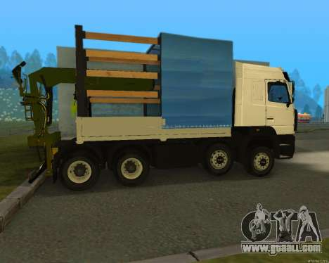 MAZ 6430 with a crane for GTA San Andreas left view