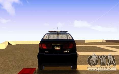 Karin Dilettante Police Car for GTA San Andreas back left view