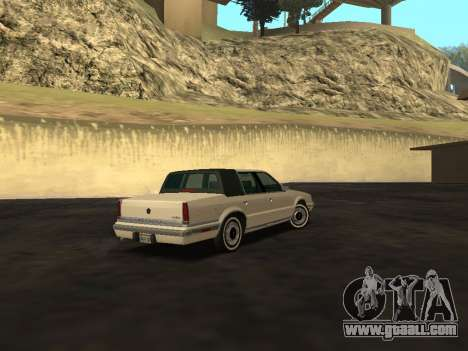 Chrysler New Yorker 1988 for GTA San Andreas back view