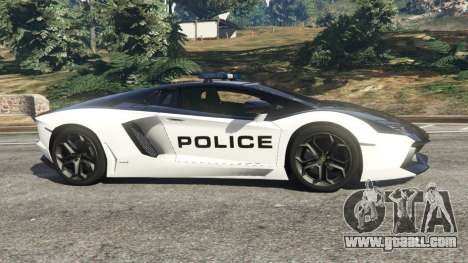 GTA 5 Lamborghini Aventador LP700-4 Police v5.5 left side view