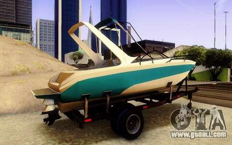 GTA V Boat Trailer for GTA San Andreas back left view