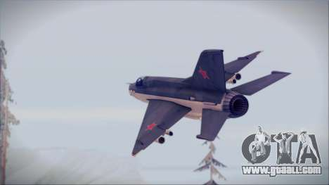 MIG-21MF URSS for GTA San Andreas left view