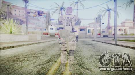 MGSV Phantom Pain Snake Scarf Olive Drab for GTA San Andreas third screenshot