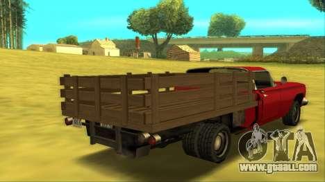 Voodoo El Camino v2 (Truck) for GTA San Andreas right view