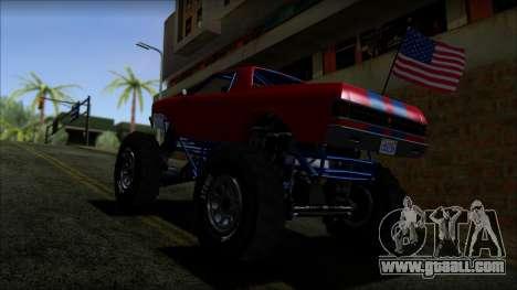 GTA 5 Cheval Marshall IVF for GTA San Andreas back left view